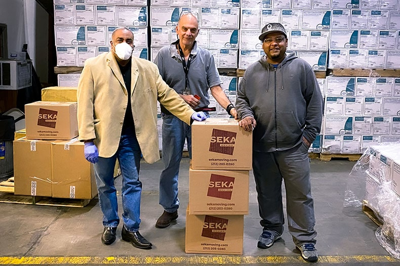 Seka Moving Donates Face Masks to NYC Frontline Workers